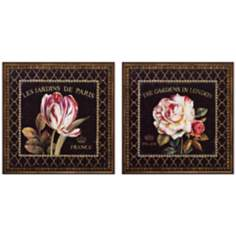 Set of 2 Garden View VI/VII French Floral Wall Art