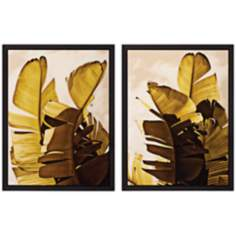 "Set of 2 Palm Fronds III/IV 26"" High Tropical Wall Art"