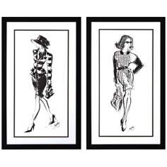 "Set of 2 Executive I/II 30"" High Catwalk Fashion Wall Art"