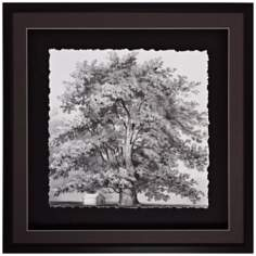 "Silver Majesty I 30"" Square Tree Wall Art"