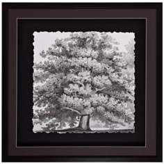 "Silver Majesty II 30"" Square Tree Wall Art"