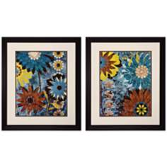 "Set of 2 Eyes on Me I/II 28"" High Floral Wall Art"
