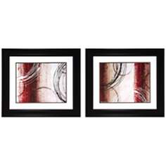 "Set of 2 Gestures I/II 30"" Wide Modern Abstract Wall Art"