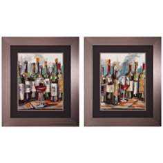 "Set of 2 Uncorked I/II 30"" High Wine Wall Art"