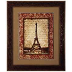 "J'Aime Paris I 36"" High Eiffel Tower Wall Art"