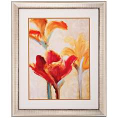 "Endless Summer I 34"" High Vibrant Floral Wall Art"