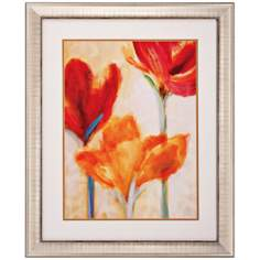 "Endless Summer II 34"" High Vibrant Floral Wall Art"