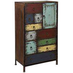 Parcel Cinnamon 1-Door 10-Drawer Accent Chest