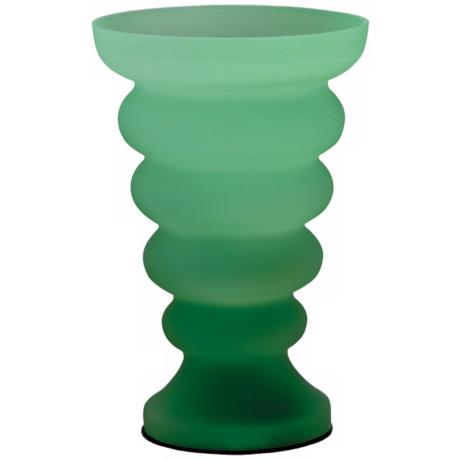 Rising Tide Green Glass Accent Table Lamp