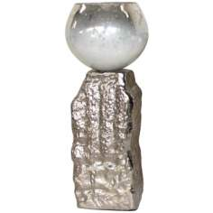Rojo 16 Rocky Large Aluminum and Glass Tea Light Holder