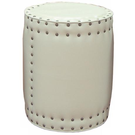 Chase Ivory Bicast Leather Pedestal