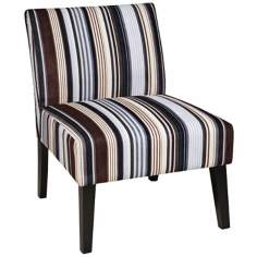 Ave Six® Laguna Stripe Sky Accent Chair