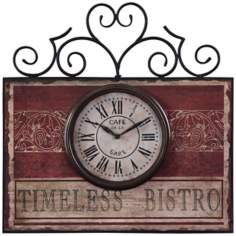 "Uttermost Timeless Bistro 22"" Wide Wall Clock"