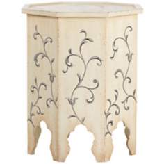 Kayla Antique White Accent Table