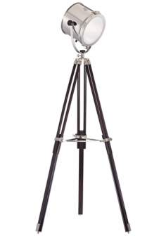 Director's Chrome and Espresso Tripod Floor Lamp