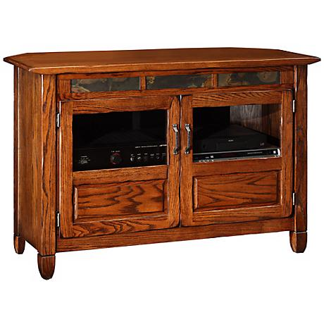 Leick Furniture Rustic Oak TV Console