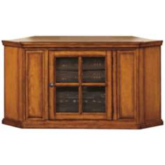 Leick Furniture Oak Corner TV Stand
