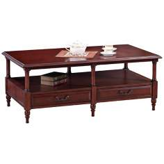 Leick Furniture Claridge Cherry Storage Coffee Table