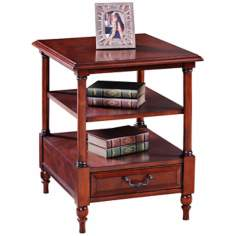 Leick Furniture Claridge Cherry 2-Tier End Table