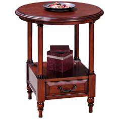 Leick Furniture Claridge Cherry Round Storage Table