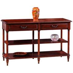 Leick Furniture Claridge Cherry Two-Tier Console Table