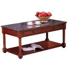Leick Furniture Stone Terrace Granite Top Coffee Table