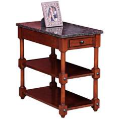Leick Furniture Stone Terrace Granite Top End Table