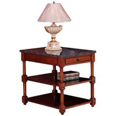 Leick Furniture Stone Terrace Granite Storage End Table