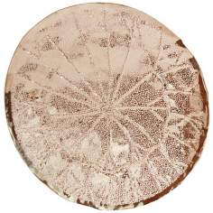 "Amalfitana 22"" Wide Brass and Nickel Lotus Platter"