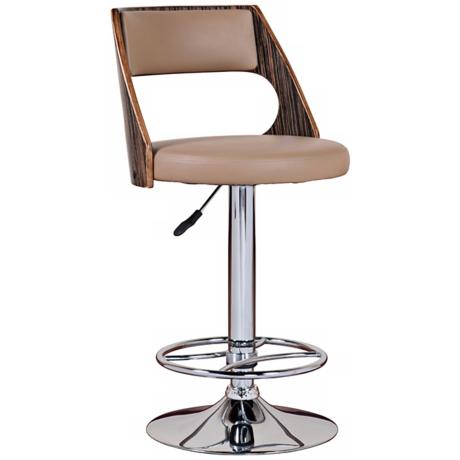 Leick Furniture Set of 2 Adjustable Mocha Bar Stools