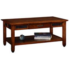 Leick Furniture Slatestone Rustic Oak Coffee Table