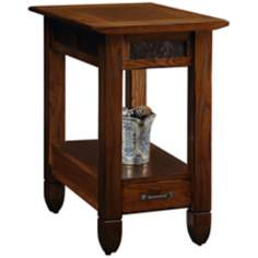 Leick Furniture Slatestone Rustic Oak End Table