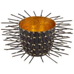 Rojo 16 Iron Studded Small Porcupine Bowl