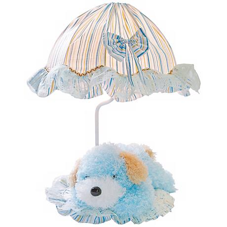 Lite Source Puppy Poof Blue Accent Lamp