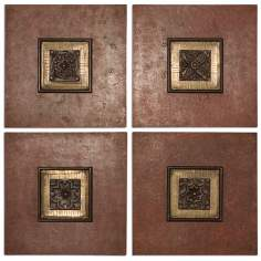 "Set of 4 Uttermost 16"" Golovin Squares Wall Art"