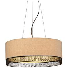 "LBL Hollywood Beach 4-Light 22"" Wide Pendant Light"