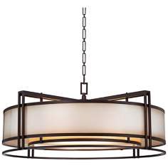 "Walt Disney Signature Underscore 36""W Bronze Pendant Light"