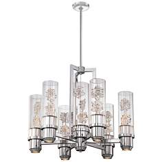 "Metropolitan Bella Fiori 13-Light 28"" W Chrome Chandelier"