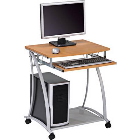 Carval Maple and Silver Portable Computer Desk