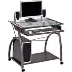 Gainley Dark Grey Metal Portable Computer Desk