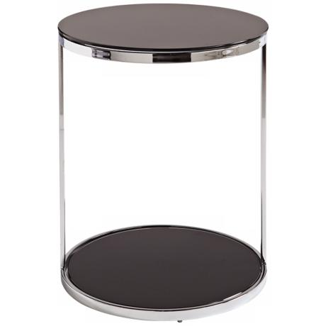 Dakota Black Metal End Table