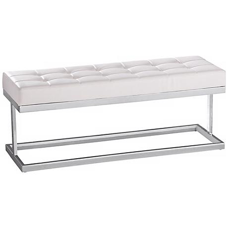 Viceroy White Faux Leather Bench