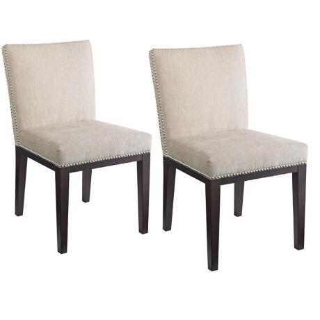 Vintage Set of 2 Cream Dining Chairs