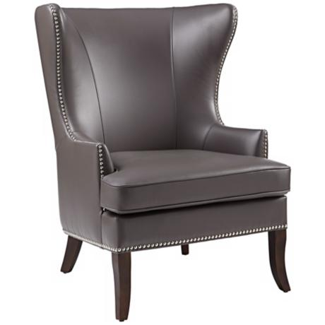 Royalton Grey Wingback Chair