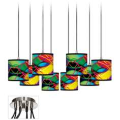 Colors in Motion (Light) 8-Light Swag Fixture