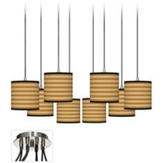 Butterscotch Parallels Luxe 8-Light Swag Fixture