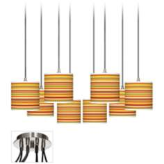 Stacy Garcia Harvest Stripe Luxe 8-Light Swag