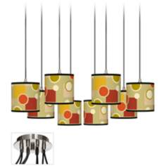 Retro Citrus Medley Luxe 8-Light Swag Fixture