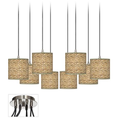 Seagrass Giclee Luxe 8-Light Swag Chandelier