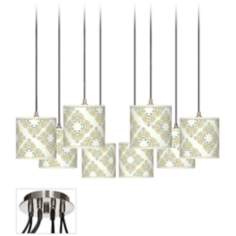 Aster Ivory Giclee Luxe 8-Light Swag Fixture
